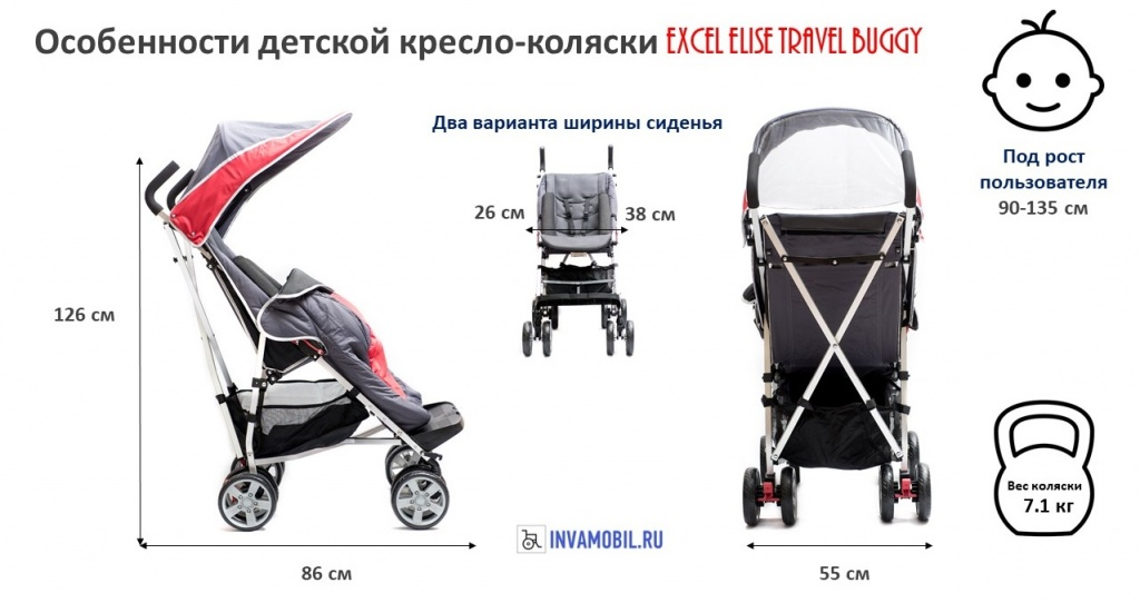 кресло-коляска Excel Elise Travel Buggy.jpg